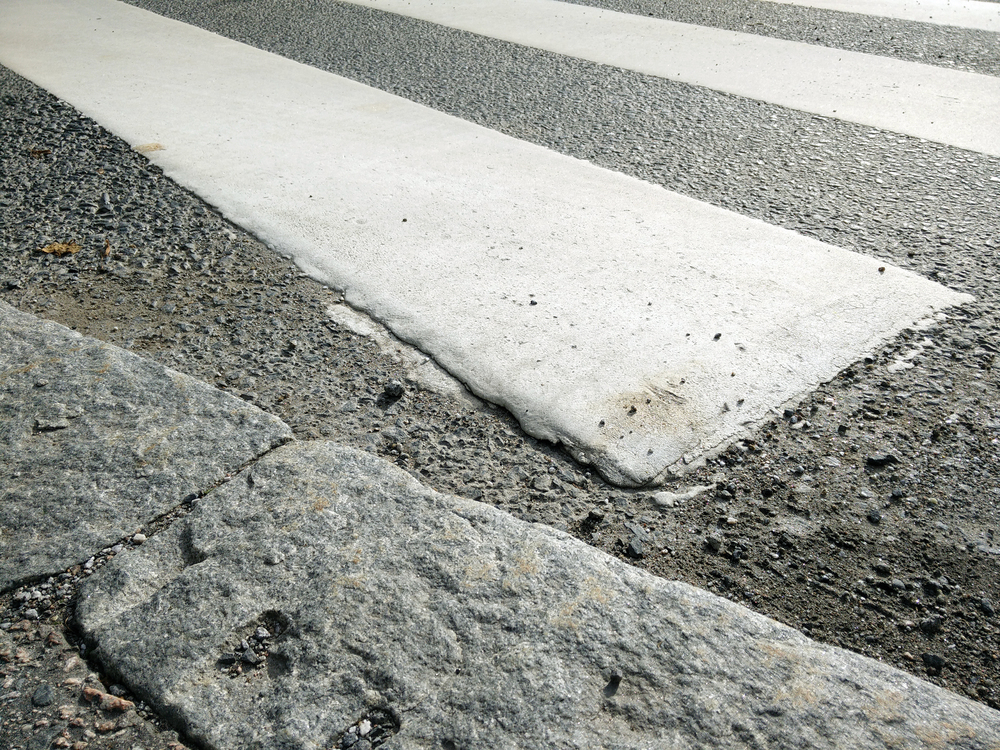 Similar kind of thick and durable paste is used to mark Zebra crossings