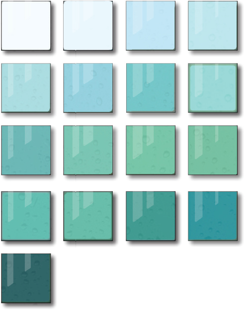 17 colors used in the glass panels represent the 17 endangered species found in the Baltic sea