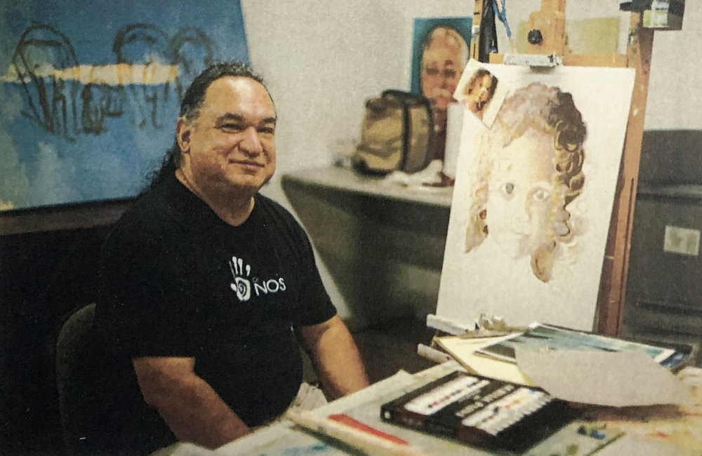LARRY YANEZ SR. - Larry Yanez Sr. is a deaf artist native to Sugarland, Texas, who uses his artistic gifts to glorify God. He is a lifelong artist whose talents were recognized from an early age by his parents as well as classmates at the Texas School for the Deaf. He is a formally trained artist who received many distinctions while enrolled in Austin Community College. Yanez has had his studio space at Imagine Art since 2017.Yanez works with a variety of mediums with a focus on oils and acrylics. His primary subject matter is landscape and portraiture, evoking, the unique style of the American Southwest through studies of native plants and animals, and of traditional indigenous culture. Yanez's work displays his love for his culture, and he says that his goal is to make the viewer feel both humbled and inspired. His travels are the inspiration for his paintings; from the Red Rock Mountains of Sedona to the view of the Colorado River in downtown Austin.