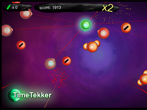 Time Tekker - By Ryan O'HaraTime Tekker is a top-down shooter with a twist: when you stand still, you enter bullet time. The game was completed in two weeks to fulfill an assignment exploring multitasking. It also won a Best Use of Time award representing Quinnipiac at GameFest 2017 at RPI.