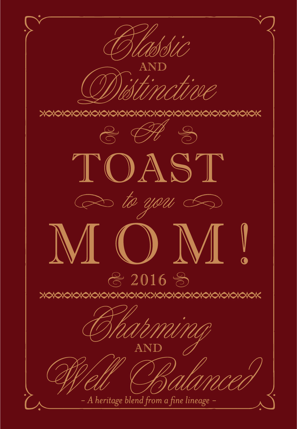 Download Mother's Day Printable Wine Label Template