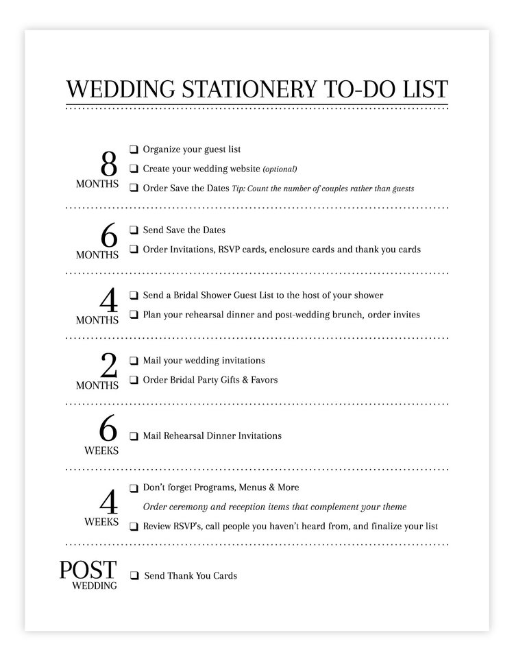 to do list for wedding
