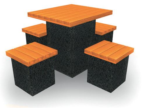 CUBE Spectrum Primary  (up to 11 yrs) W 800 x D 800 x H 670mm Orange : Code PWCS1800JCO   Secondary  (11 yrs +) W 800 x D 800 x H 750mm Orange : Code PWCS1800CO