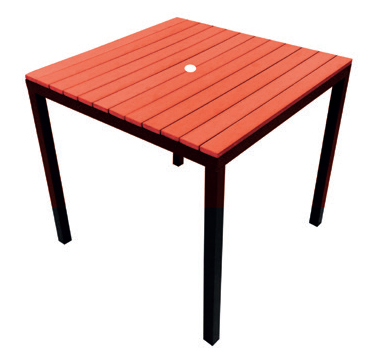 Table Red  Code PWK800R W 800 x D 800 x H 757mm