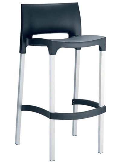 Poseur Chair  W 390 x D 450 x H 960mm  Green : Code CC4206 Orange : Code CC4206 Red : Code CC4206 Black : Code CC4206