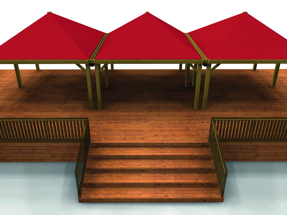 Decking with ramps