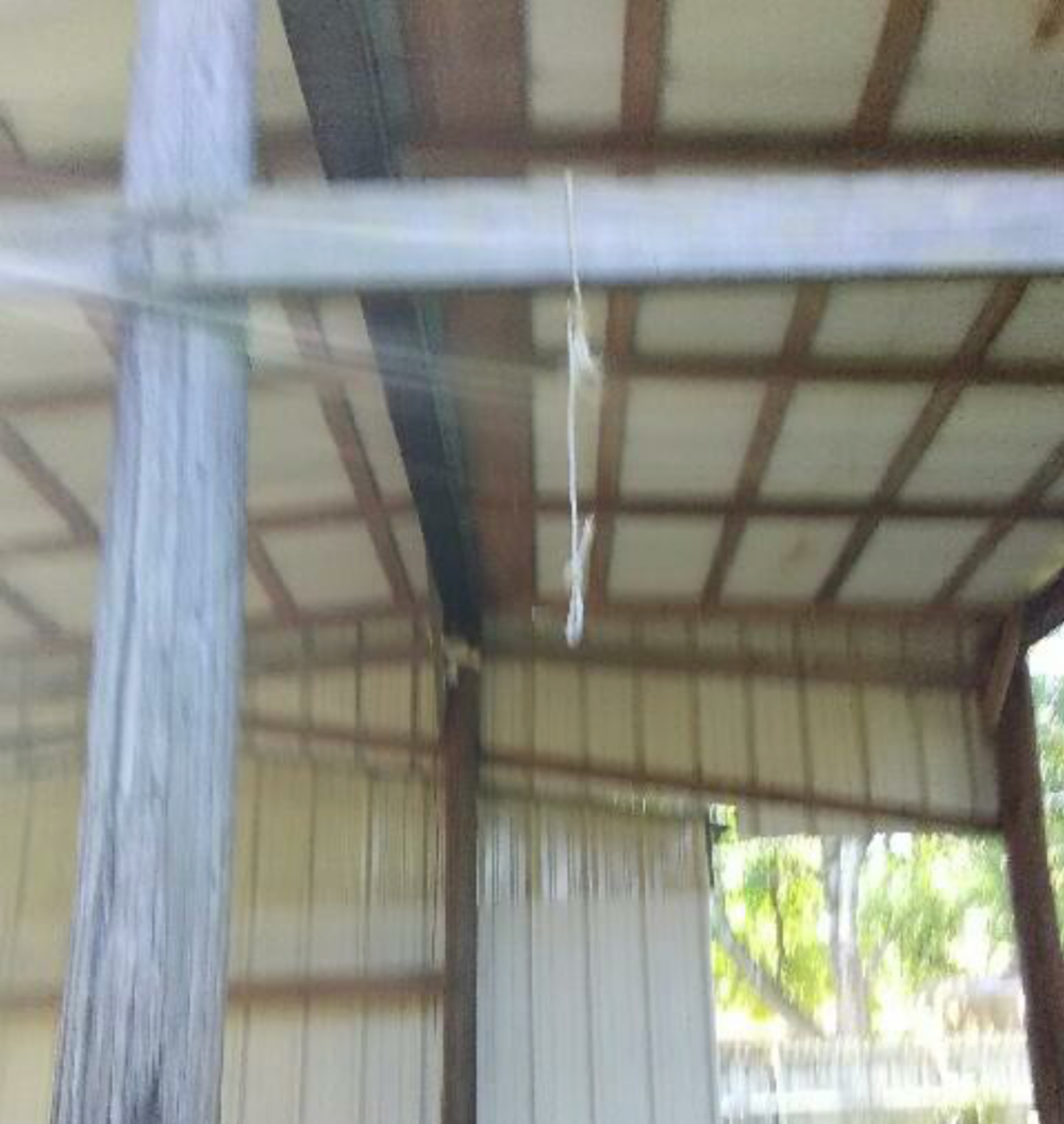 Local African American family found noose hanging in one of their buildings.