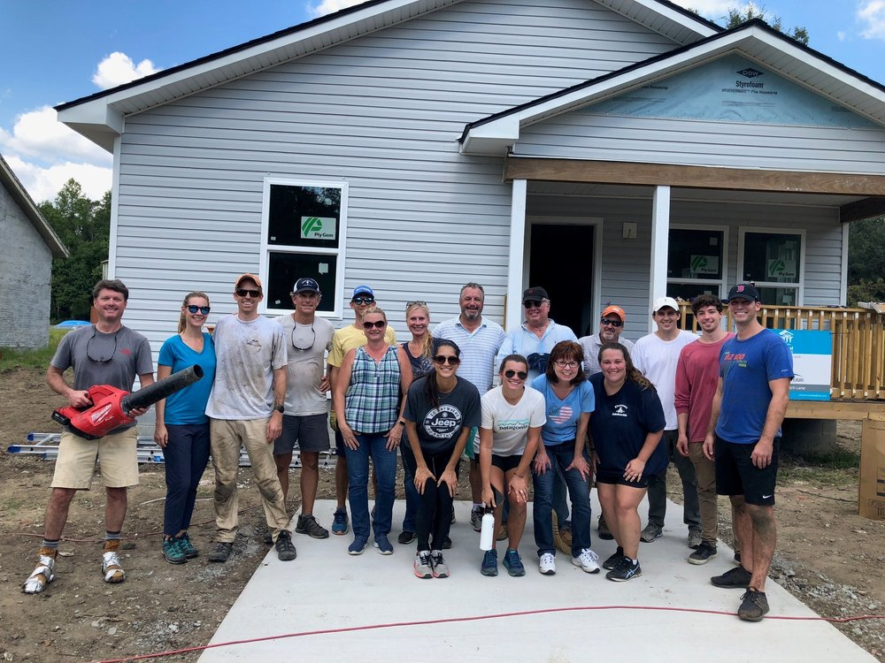 NAI Charleston team who helped build a house with Habitat for Humanity