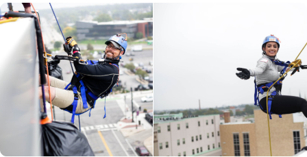 NAI Cressy Professionals repelling 108 feet to raise money for homeless youth