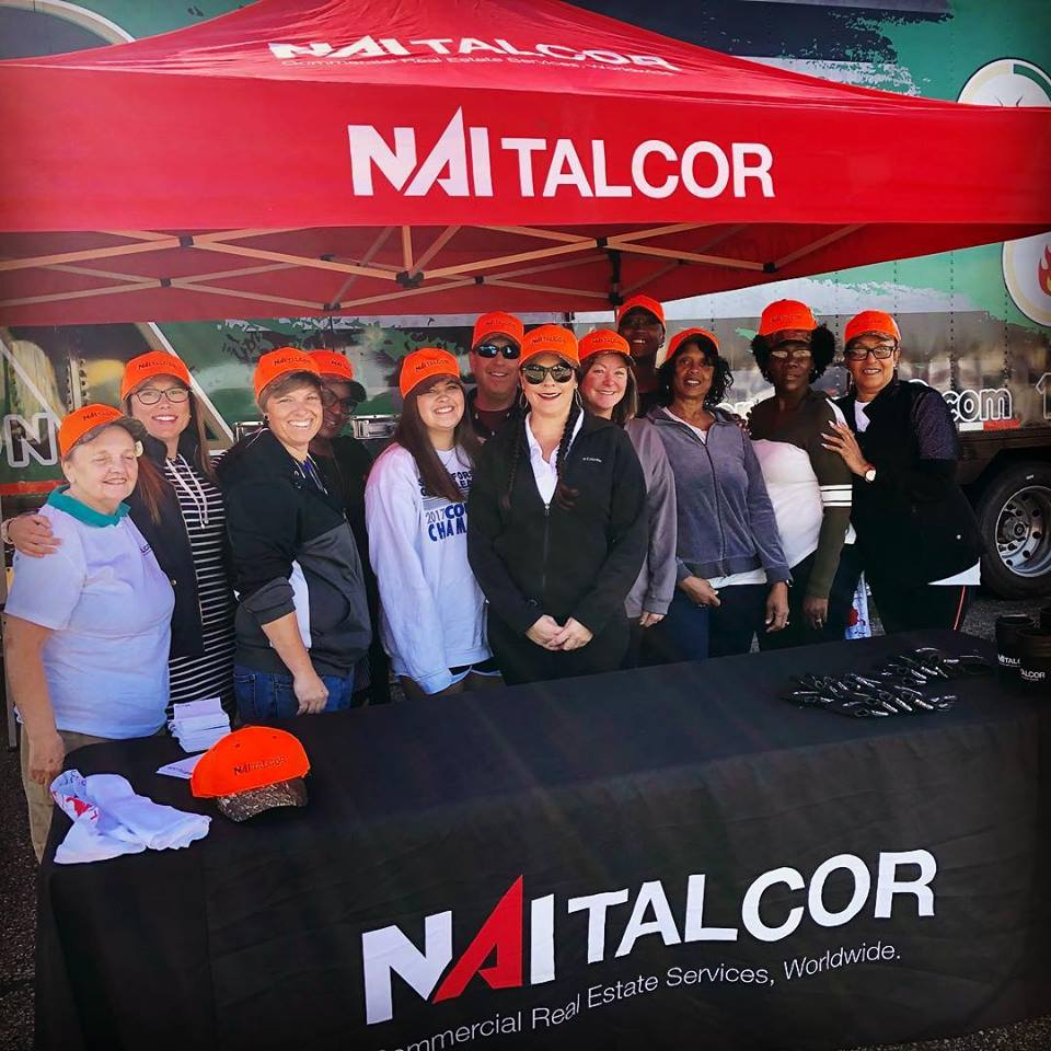 NAI Talcor professionals giving away Turkeys with RR Restoration and Strategic Claims Consultants