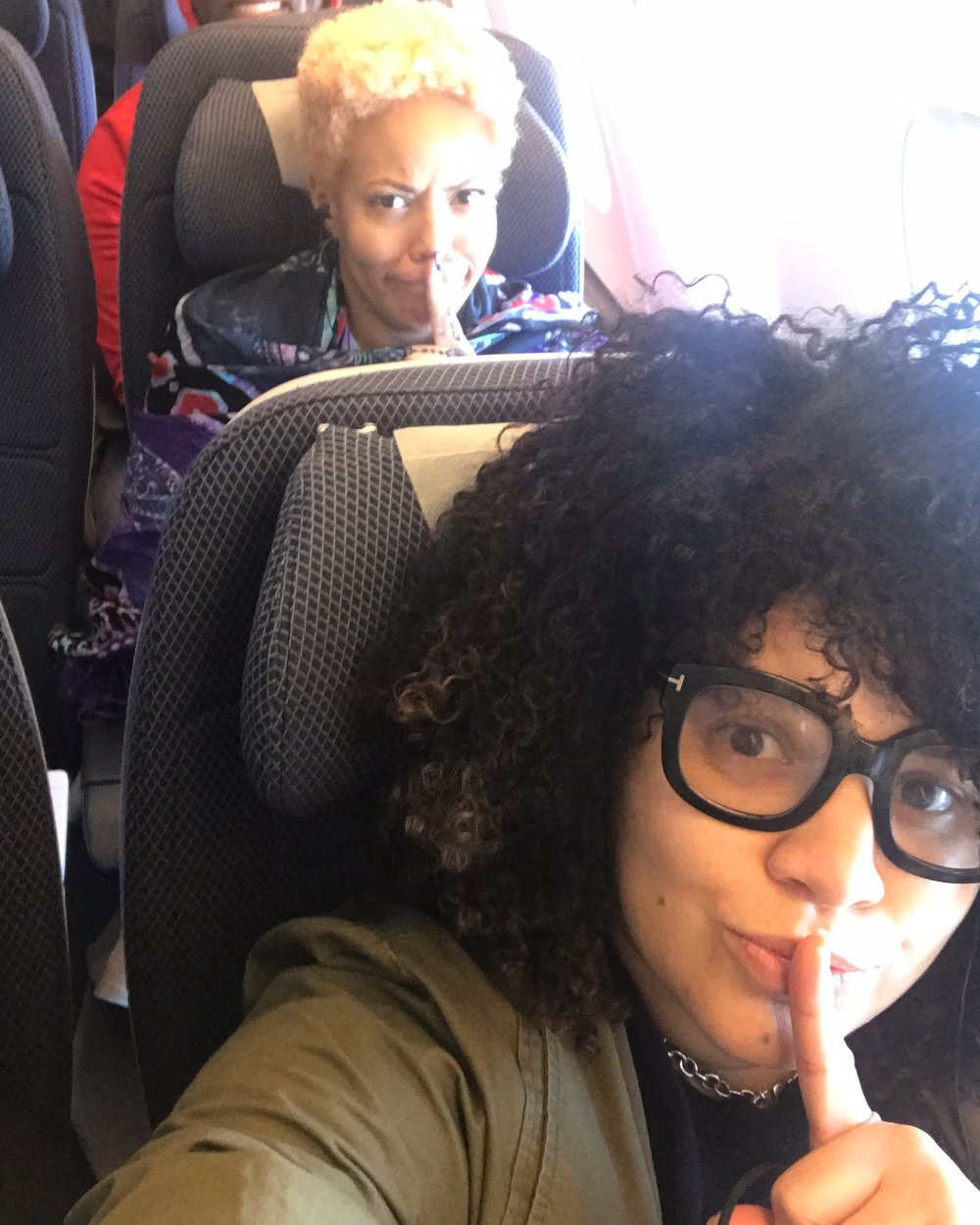 Lesson 3: My business partner and I are very loud on planes . And somehow we were on 3 different flights were she sat behind me.