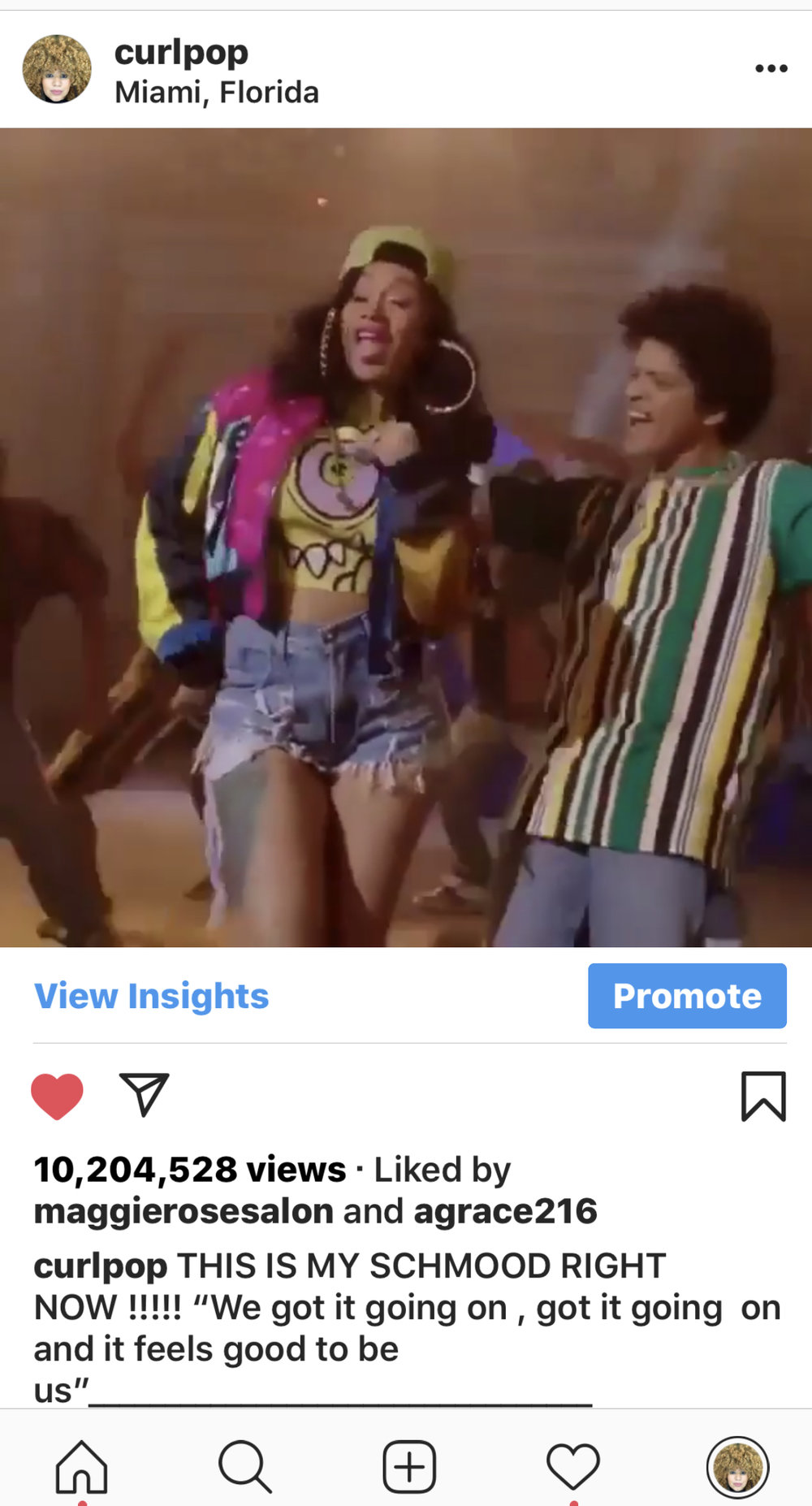 Lesson 9 : When posting a music video on instagram post Bruno Mars . I had the highest viewed Bruno Mars video in a short amount of time till Instagram shut it down . (low key mad but low key celebrated it)