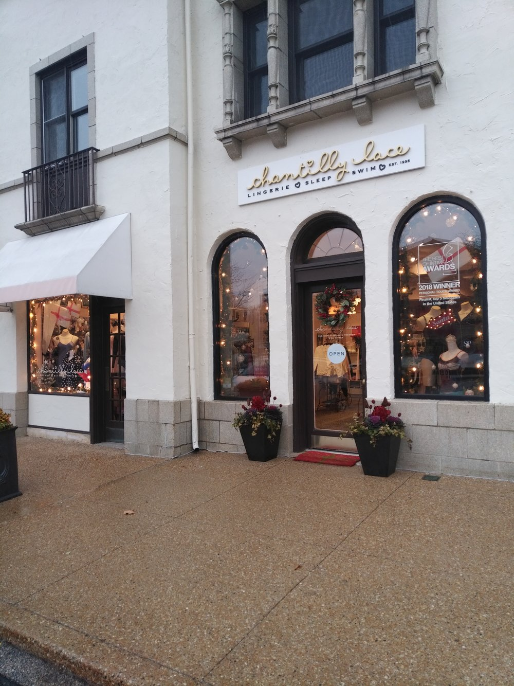Our shop is in the Plaza del Lago, one of the oldest (& most charming) shopping centers in the US.