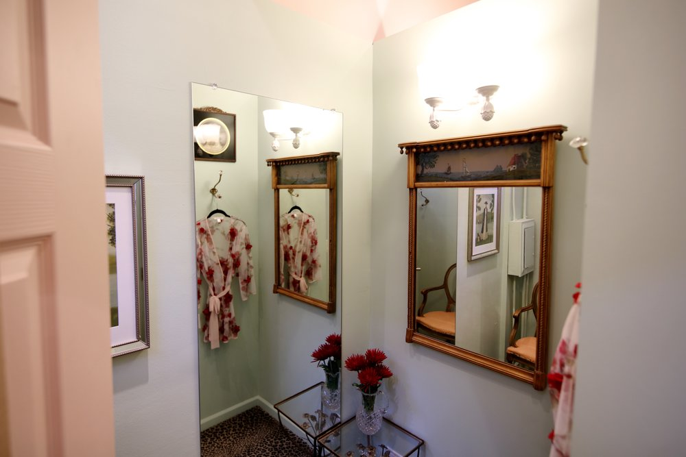 Each fitting room is unique, with its own personality.