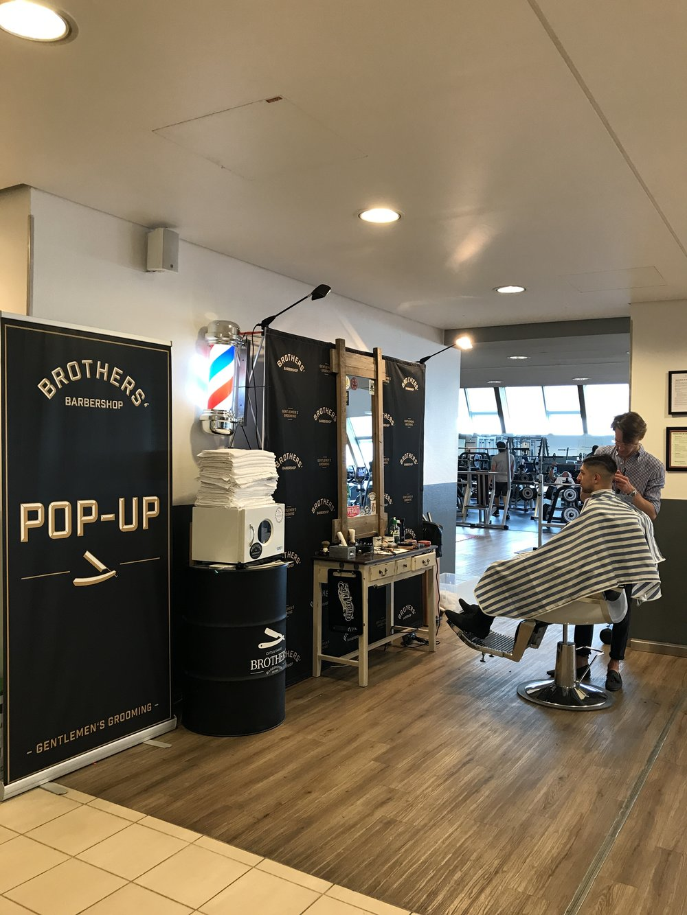 Brothers' pop-up  - Since 2015, we are also offering our pop-up barber installation for fairs, events etc. If you want to impress your male customers - Brothers' Barbershop pop-up is what you need! We will provide outstanding experience, including hot towel shaves with straight razor directly at your location!In conjunction with our traditional craftsmanship, your brand or product will remain a lasting memory of your  customers.Use the form below to get a quotation tailored to your needs
