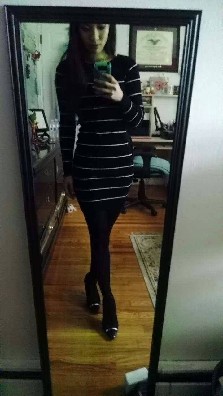 Sweater dress: Dynamite, Shoes: Payless