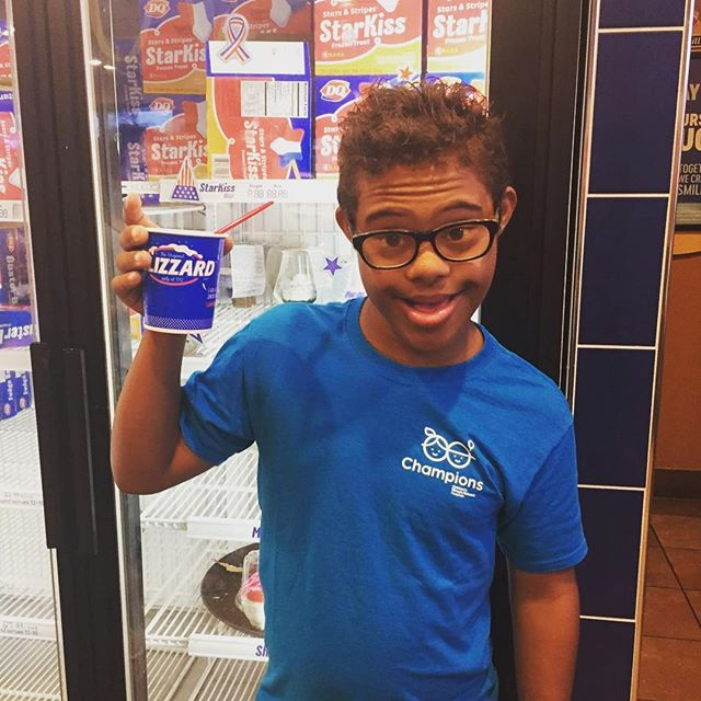 @cmnhospitals National Champion Child, JoeJoe got his Blizzard in celebration of #MiracleTrEatDay 🍦! We'd love to know how you celebrated today! What's your favorite Blizzard flavor?  @dairyqueen