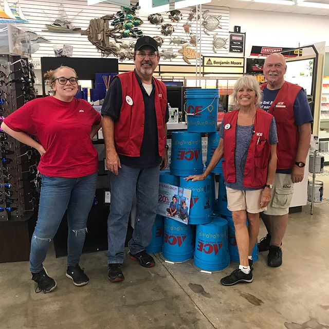 @acehardware Bucket Days are going on now through Sunday!  Be sure to stop by a participating location to get your $5 bucket. Proceeds will benefit local @cmnhospitals and you'll get 20% off most items you can fit in the bucket!