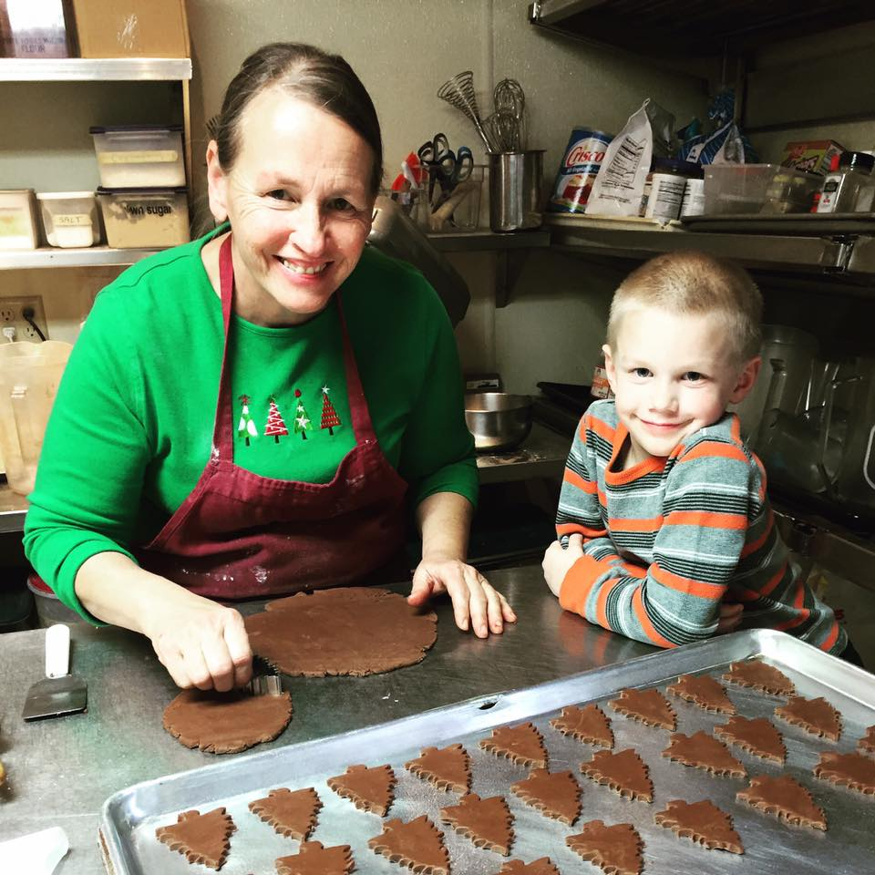 LuAnn and her grandson baking together!