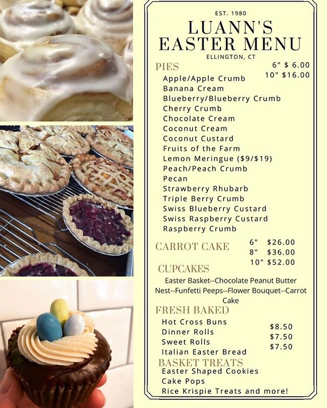 Easter is just over a week away! We can help make it easy and delectable 😋😋😋