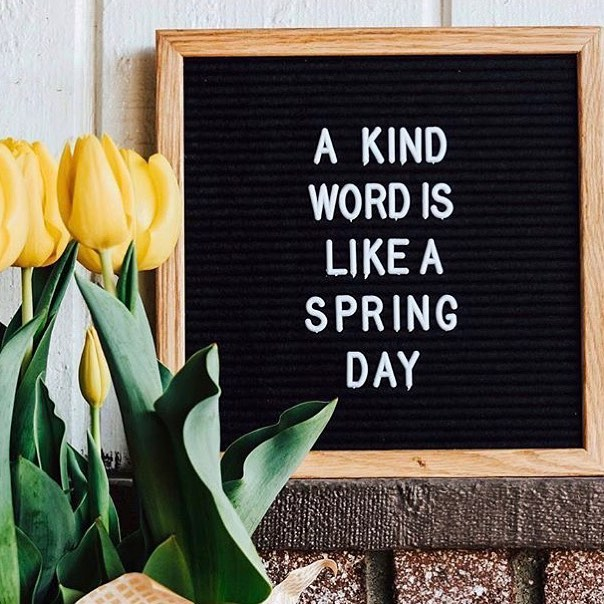 A kind word is like a Spring Day 💐💐💐 @feltletterboards