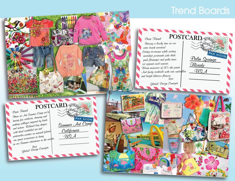 Postcard Trend Boards