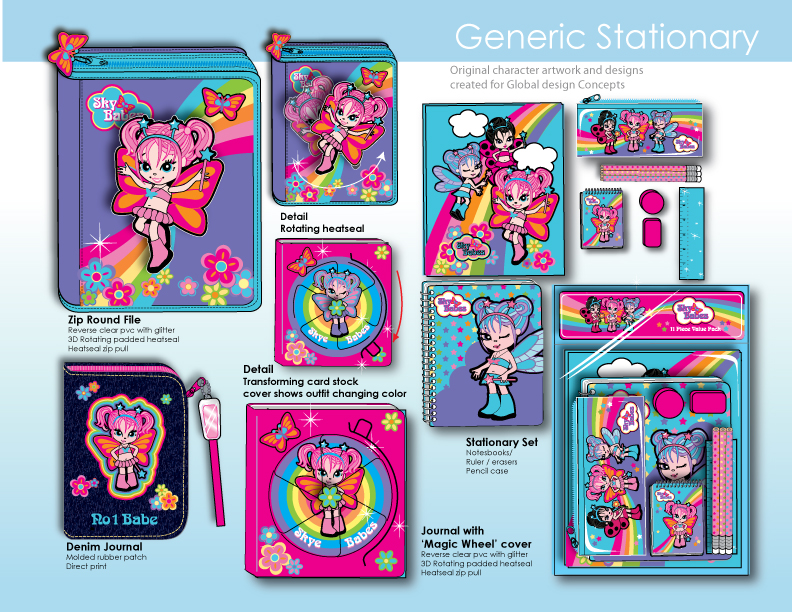 Skybabes Stationery