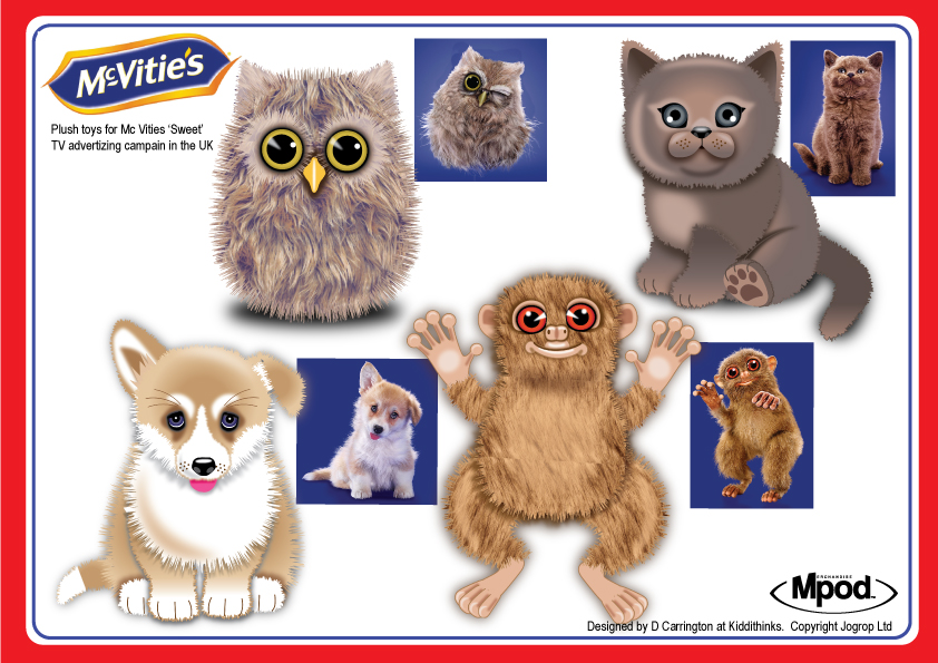 Plush Toys For McVities TV Campaign