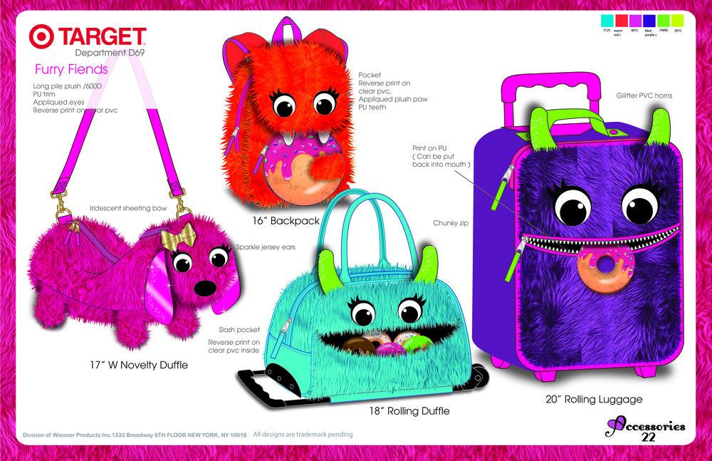 Plush Monster Luggage