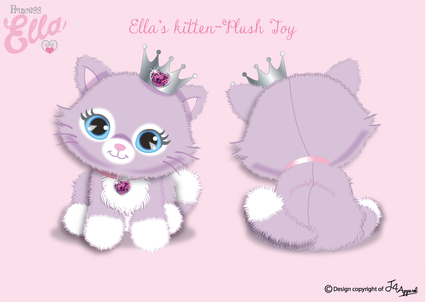 Plush Kitten Toy For Princess Ella
