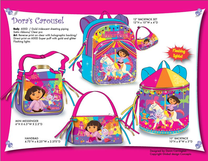 "Dora ""Carosel' Bags"