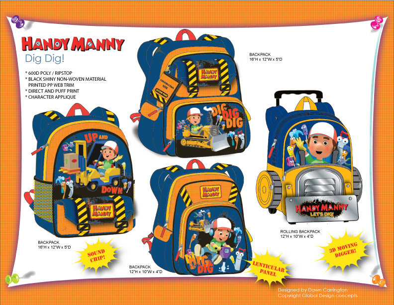 Handy Manny 'Dig' Bags