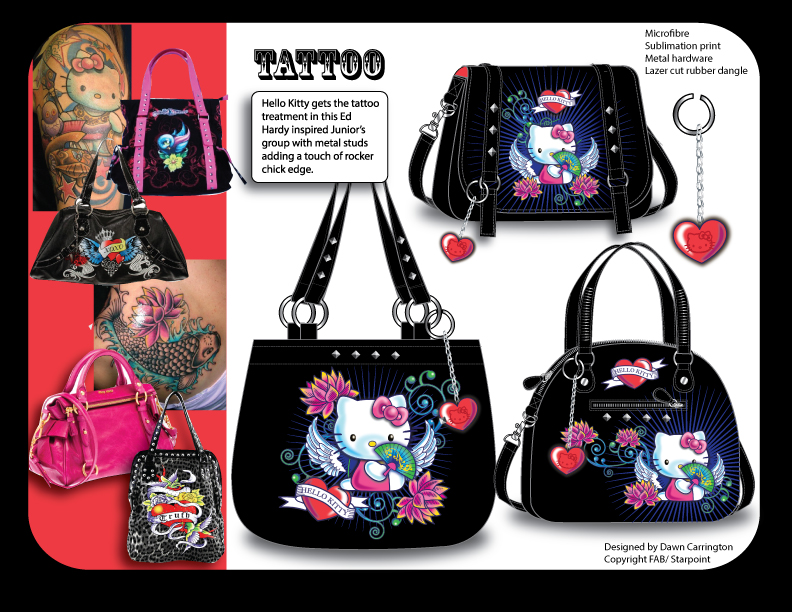 Hello Kitty Tattoo for Hot Topic