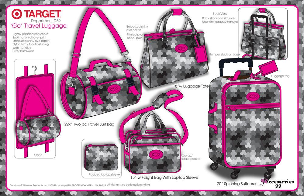 Target Geo Print Luggage