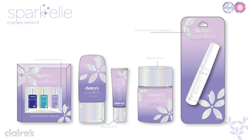 Claire's Teen Cosmetic Packaging