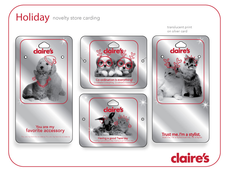 Claire's Claire's Novelty Animal Holiday Packaging
