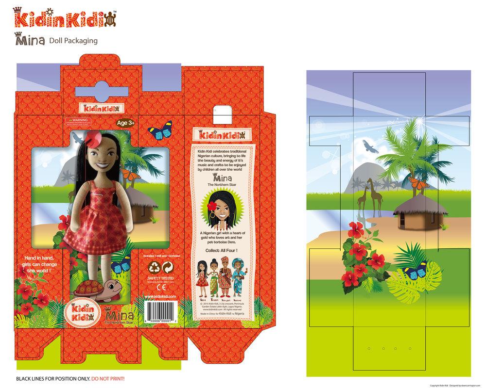 Kidin Kidi Doll and packaging
