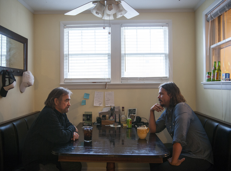 Donnie Fritts and John Paul White at Single Lock Studios in Florence, Ala. Photo by Robert Rausch for Billy Reid.