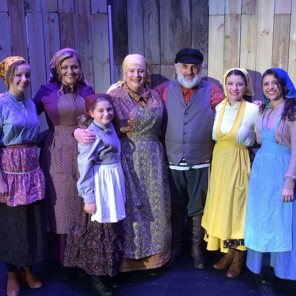 Tevye, Golde and his daughters
