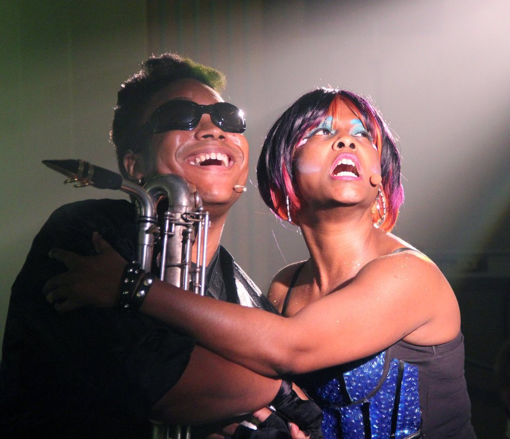 Andre Hinds and Joyel Crawford in Saucy Jack & the Space Vixens