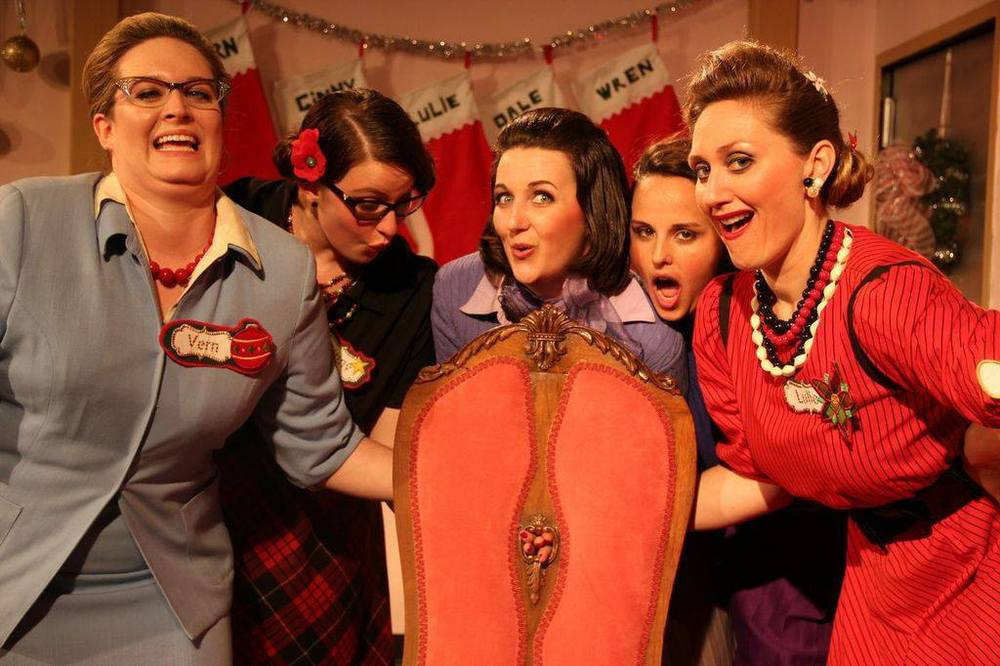 Jennifer Hasty, Tori Vaughn, Beth Curley, Andrea McGinn and Becca Anderson in  Five Lesbians Eating A Quiche