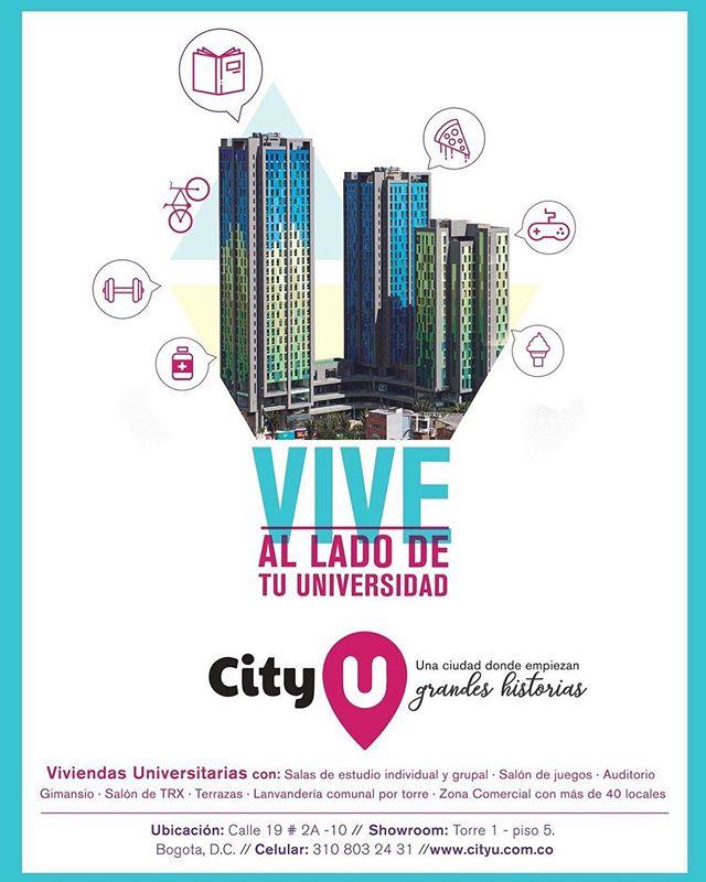 CityU es el primer proyecto de vivienda universitaria en Bogotá. ¡Reserva ya tu habitación!  Más información en cityu.com.co