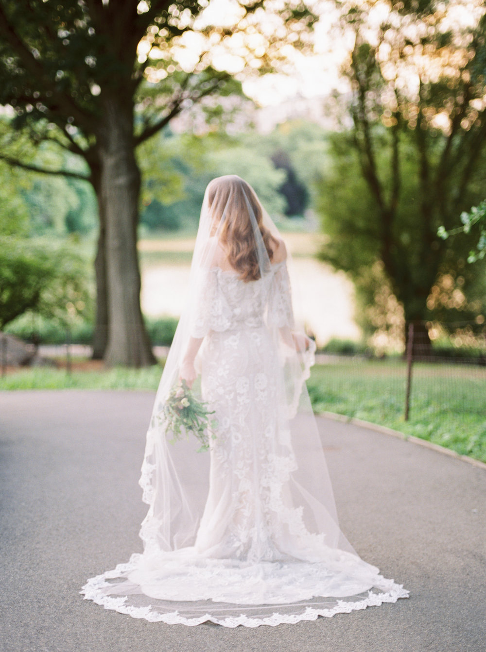 Marchesa Bride in Central Park