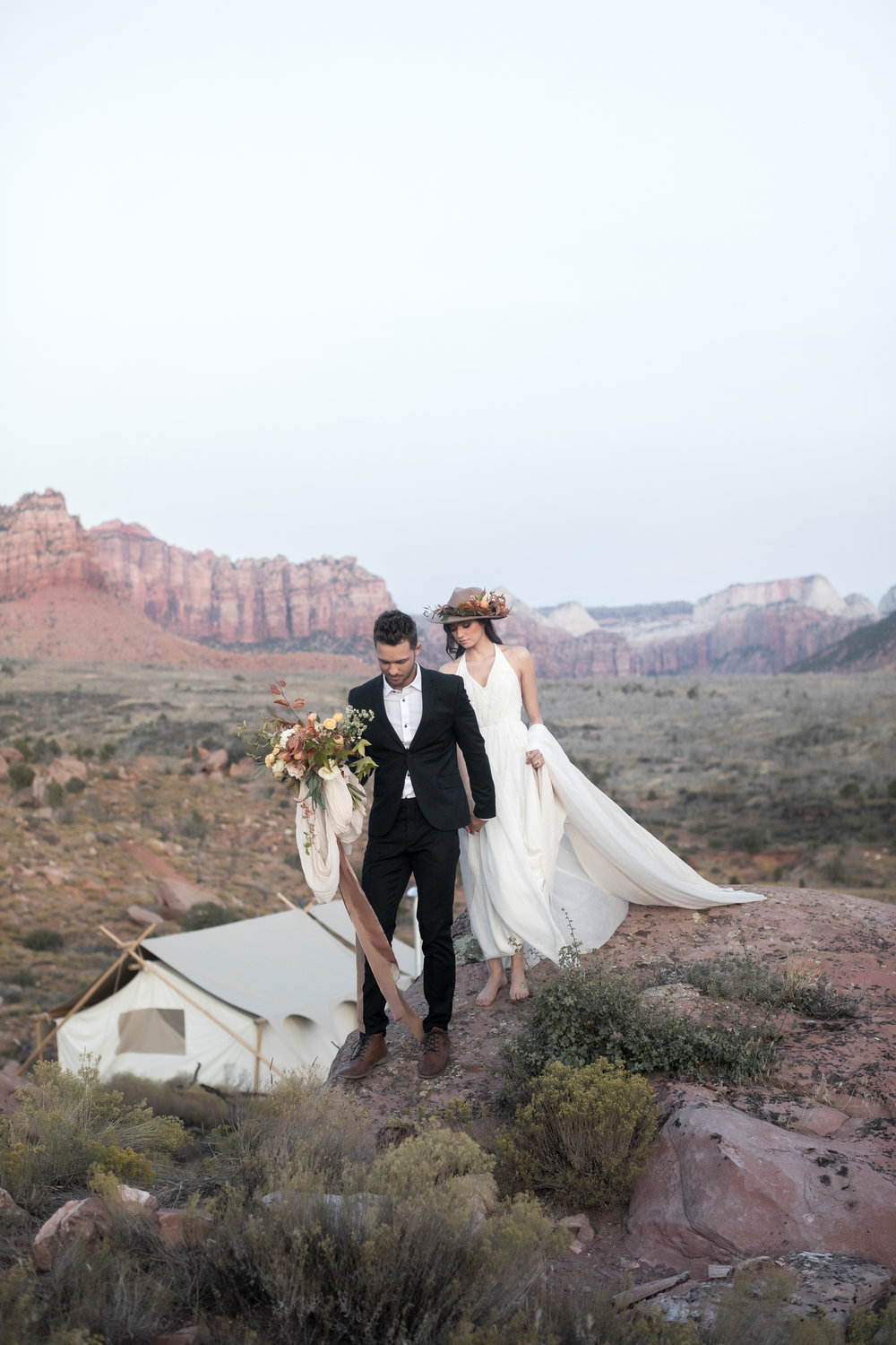 Glamping-Inspired Elopement