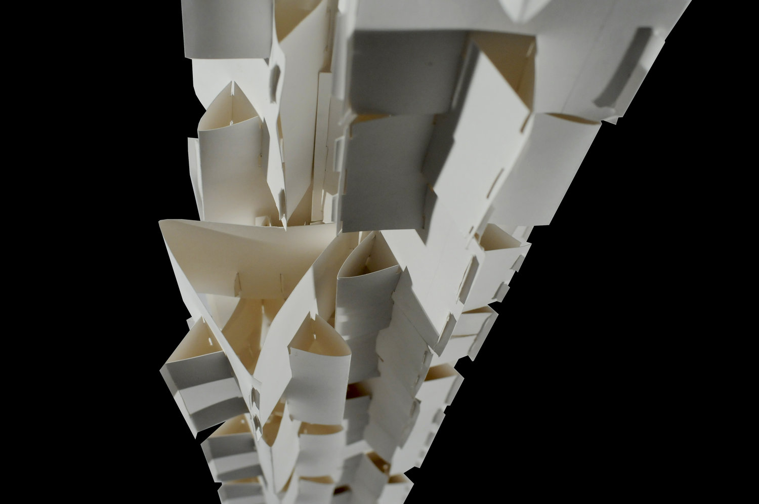 Project I Five Foot Paper Tower Built Of Repeated Units No Adhesives Capable Supporting A 15 Lb Top Load Material