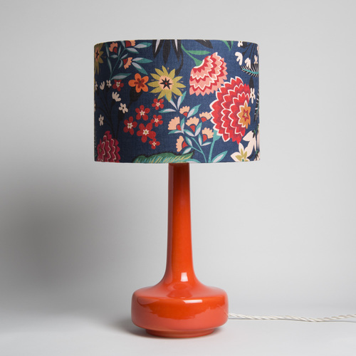 Winters moon vintage midcentury modern furniture bell bottom orange table lamp with carnation shade retro orange lamp aloadofball Gallery