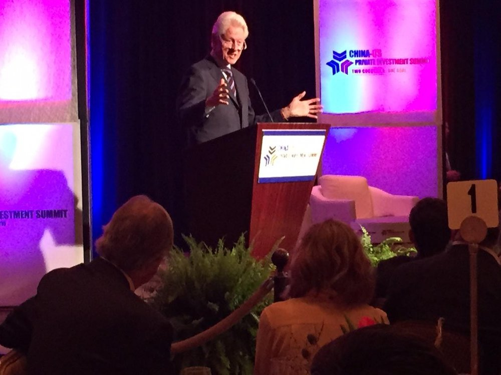Bill Clinton Keynote at the US-China Private Investment Summit 2015