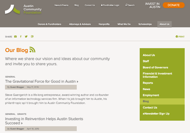 Austin Community Foundation Home Page