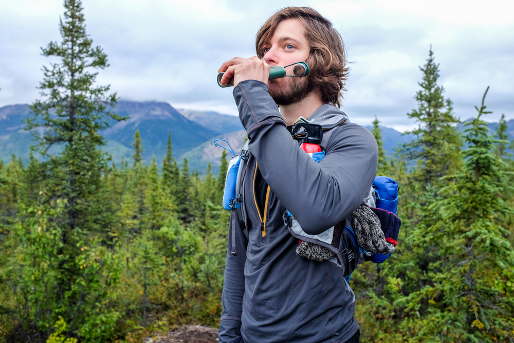 Trail running in Denali National Park? Better pack whiskey and bear spray in your running vest. (Photo: DNV)