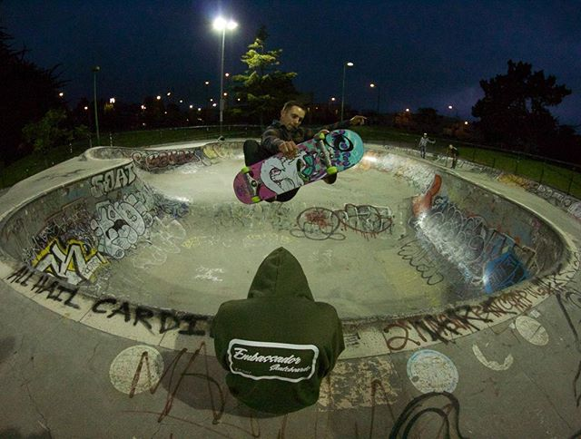 Start your week off with team rider @cody_laboy airing over the new @embassadorskateboards hoodie!